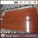 Un grado de madera roja de mármol losas y baldosas para pisos