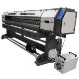 impressora solvente principal de 2.5m 8feet um Epson Dx7 Eco para o encerado, a bandeira do cabo flexível, a lona e o pano da bandeira
