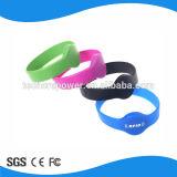 Braccialetto impermeabile di controllo di accesso della modifica del Wristband di RFID