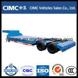 熱い販売Cimc 2つの車軸低いベッドのトレーラー40トン