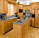 Cozinha clássica da madeira contínua da mobília da cozinha do estilo