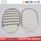 Bamboo СПА руки губки ванны Softtextile волокна оборудует перчатку ванны