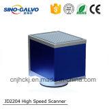高度のロゴまたは電話または金属またはGalvoのスキャンナー携帯用光ファイバレーザーのマーキング機械Jd2204