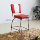 Kunstleder-hoher Stab-Stühle und Bentwood Tisch mit dem Edelstahl-Bein (SP-CT847)