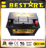 12V 66ahの自動車手段の電気自動車電池Bci 48r