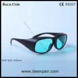vermelho de 620-700nm Dir Lb4/óculos de proteção protetores de vidros de segurança laser do rubi com frame preto 33