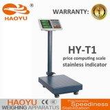 Plataforma de acero Stailess Escala Tcs precios electrónica 500kg Balanza de plataforma con impermeable