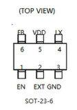 Circuito integrado Rt9266bge del convertidor IC de la eficacia alta DC/DC