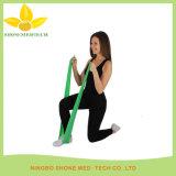Faixa elástica Látex-Livre da ioga da resistência da aptidão