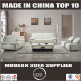 Sofa en cuir sectionnel Lz345 d'accoudoir inoxidable