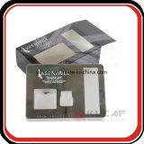 Casella impaccante di Carboard di stampa dell'oro UV dell'argento con la finestra