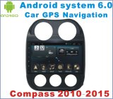 Carro Android GPS do sistema 6.0 para Compass2010-2015 com reprodutor de DVD do carro