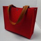 Cosmetic Bag de la manera del corte del calor de señora Felt con insignia modificada para requisitos particulares