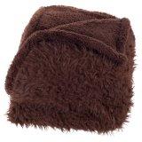 Manta teñida llana mullida de la felpa del paño grueso y suave de Sherpa