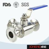 Tipo apertado lado válvula do aço inoxidável de esfera higiênica (JN-BLV1006)