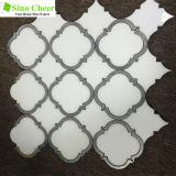 mattonelle Waterjet a forma di del marmo del mosaico della lanterna per la parete