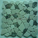 Het Natuurlijke/Witte/Zwarte/Grijze Mozaïek van China voor Gebruikt Bedekken van de Muur