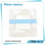 Gomma piuma adesiva del poliuretano chirurgico della fasciatura che veste sterile 4 x 4 pollici -