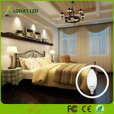 Bulbo leitoso da vela do diodo emissor de luz do branco 6W E12 E14 Dimmable dos EUA com Ce RoHS