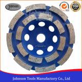колесо чашки рядка 105mm двойное для камня