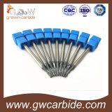 단단한 탄화물 끝 선반 4 플루트 HRC60 파란 Nano 코팅