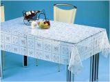 透過Oilproof、防水機能および正方形の形のテーブルクロスのプラスチック