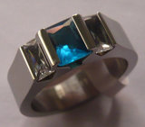 316 de Ringen van het Titanium van de Halfedelsteen van de Manier van het roestvrij staal