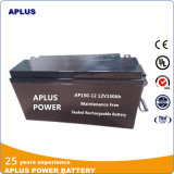 baterias de 12V 150ah VRLA com caixa do ABS e separador do AGM