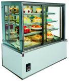 Escaparate refrigerado vertical comercial de la torta