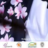 Tissu estampé de CDC de pêche (Creape De Chine) pour la robe ou le vêtement