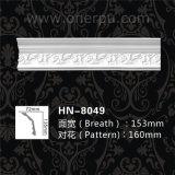 Moldeados de corona decorativos blancos del poliuretano Hn-8049