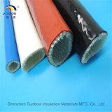 Silikon-Gummi-schützen sich beschichtete Fiberglas-Feuer-Hülse für Schmelzer-Kabel