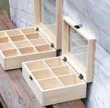 Caja de madera del rectángulo de la buena calidad/el de embalaje/rectángulo de almacenaje para el bolso de café/el bolso de té etc