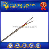 Tipo isolado fibra de vidro cabo da trança K do aço inoxidável de par termoeléctrico