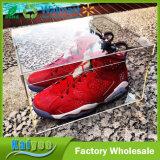 14 cas d'exposition acrylique clair de chaussure de '' x10.25 '' x5 '' avec le couvercle