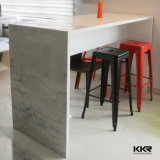 Modern Bar Furniture White Solid Surface Stone Food Bar Table
