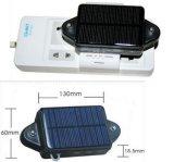 Traqueur Cctr-808s du véhicule GPS GM/M avec le bloc d'alimentation de panneau solaire, batterie à long terme, imperméable à l'eau, rail de carte de Google de service gratuit