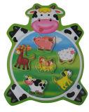 Het houten Dier van Raadsels vormde Houten Stuk speelgoed (34205A)