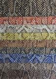 Couro sintético artificial para sapatas, vestuário do Glitter quente da venda, decoração, mobília (HS-Y37)