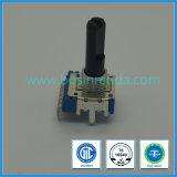 14mm 6 potenziometro sigillato rotativo dell'asta cilindrica di plastica di Pin A103 senza interruttore