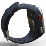 1.54 Zoll-Touch Screen IP65 imprägniern intelligente Uhr mit Doppelbändern G/M u. Wi-FI, GPS u. der dynamische Puls, ECG, Blutdruck-Überwachung, Sitz erinnert
