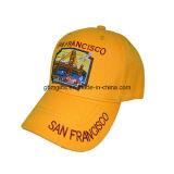 Llanura de algodón bordado 6 paneles personalizados gorra de béisbol