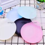 Placa plástica do alimento descartável com o opcional Multi-Color do punho
