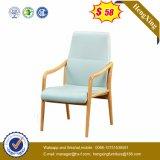 Chaise de fauteuil de base en bois de couleur rouge PU / Chaise de visite en cuir (Ns-CF084)