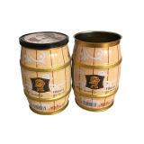 Жестяной коробки кофеего формы пояса олова кофеего коробка кофеего оптовой продажи крышки круглой пластичная