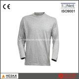 Camicia in bianco 100% di Baselayer del cotone rotondo del collare