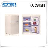 Refrigerador portátil de porta dupla com congelador superior