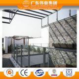 Profilo di alluminio dell'espulsione di vendita calda per il corrimano con i generi di Finished