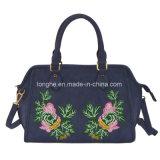 Populäre Tote-Frauen-Handtasche mit Stickerei-Gestaltungsarbeit