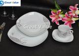 Diseño simple de logotipo personalizado Vajilla de Porcelana de placas para uso en el hogar